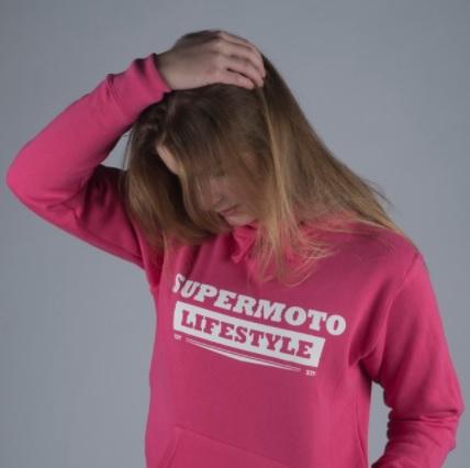 gas-to-play-supermoto-lifestyle-Premium-Hoodie-Pink-Woman