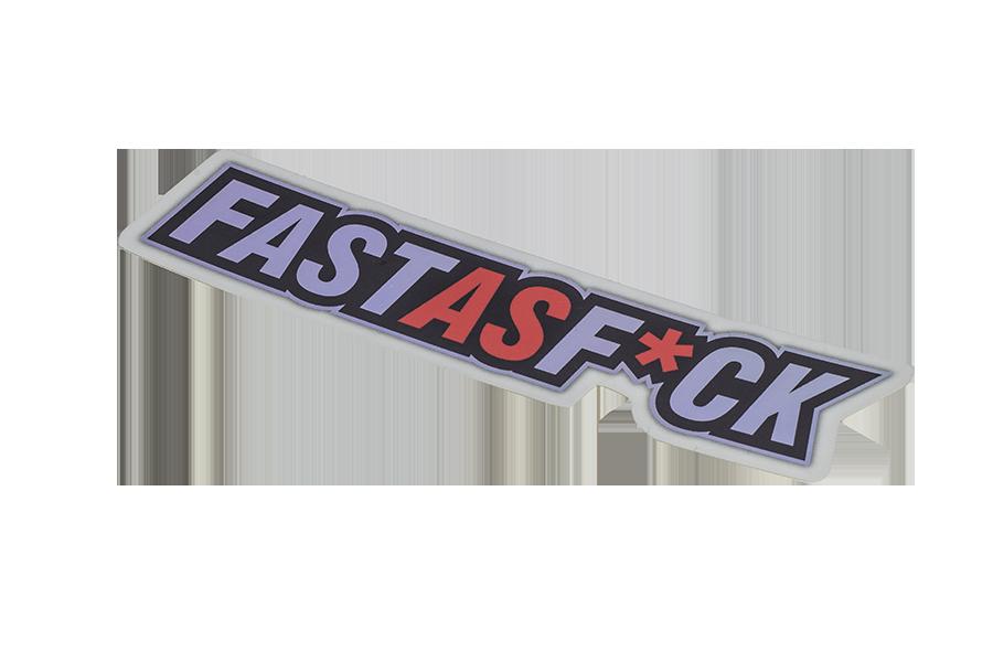 FAST AS F*CK – STICKER – ALUMINIUM